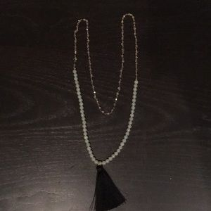 Jewelry - Long bead necklace with tassel